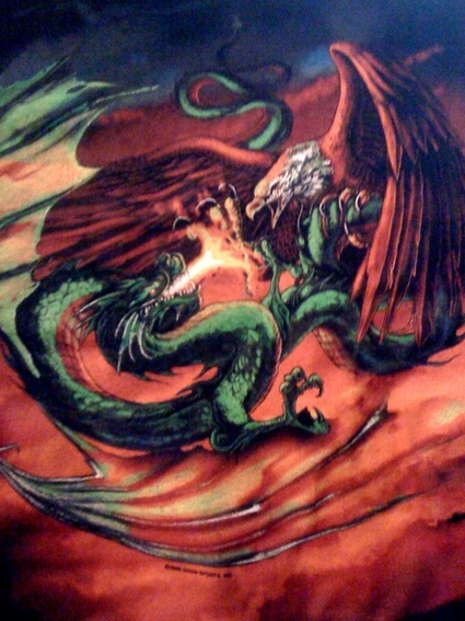 Eagle Vs Dragon Drawing O Dragão e a &#19...