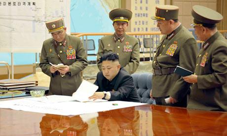 Kim Jong-un meets top North Korean military officials