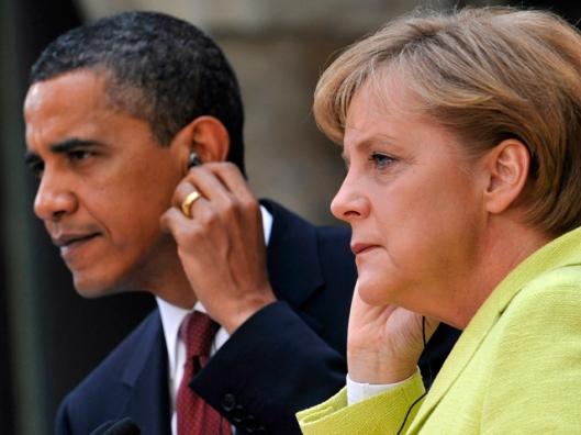 Image: Barack Obama, Angela Merkel