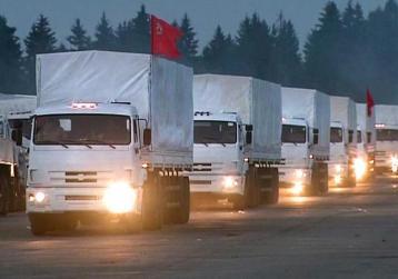 caminhoes russos ucrania