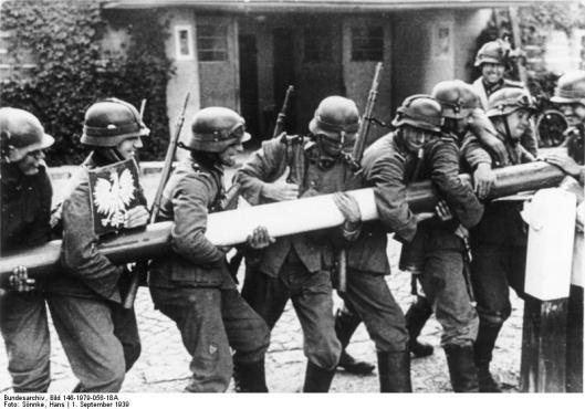 Polen, Schlagbaum, deutsche Soldaten