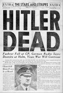 hitler-Recorte-de-jornal-com-a-notícia-da-morte-de-Hitler