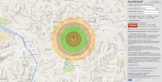 Perimetro de explosao nuclear simulada